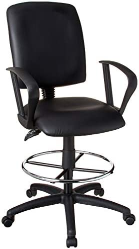 picture of Boss Office Products Multi-Function LeatherPlus Drafting Stool - Loop
