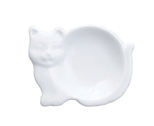 Harold Import Company Cat-Shaped Tea Bag Holder and Resting Caddy, (Tea Bag Holder Caddies)