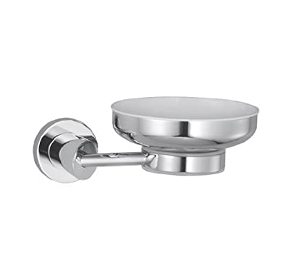 Hindware Immacula Accessories Brass Soap Dish  Chrome  Soap Holders   Dispensers