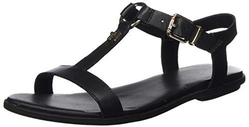 Tommy Hilfiger Damen Feminine Leather Flat Sandal Zehentrenner