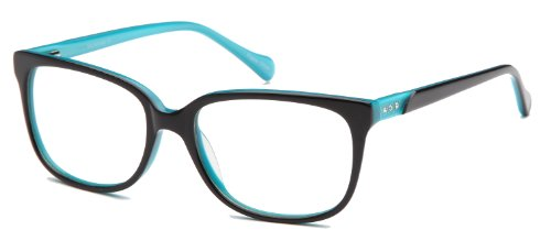 Womens Cateye Prescription Rxable Eyeglasses Frames Size 53-16-140-39 in Black Blue
