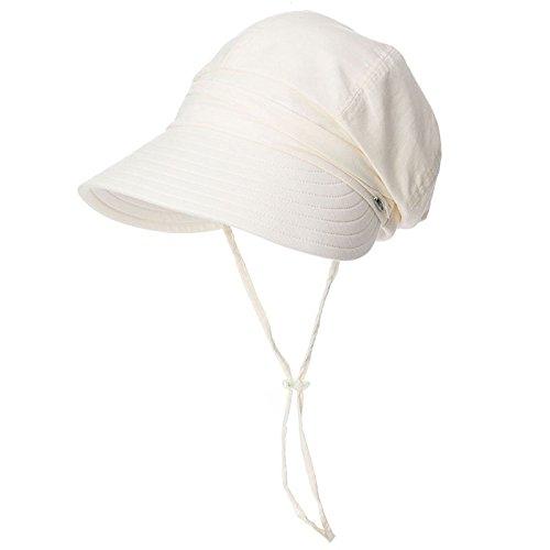 Vinteen Sombrero de Gorra Visera de Verano Femenina Versión Coreana Bloqueador Solar Cubierta Anti-UV Exterior Cara Plegable...
