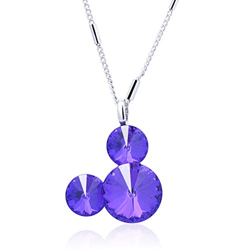 Twenty Plus Cute Mouse Shade Necklace Pendant Jewelry Gifts for Women (Purple)