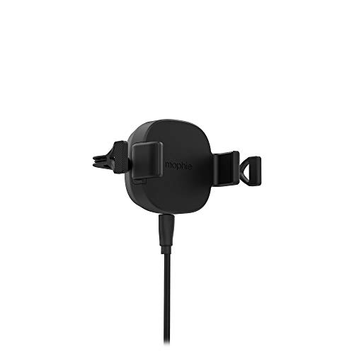 Charge Stream Qi Wireless Vent Mount Made for Apple, Samsung and Other Qi Enabled Smartphones - Black