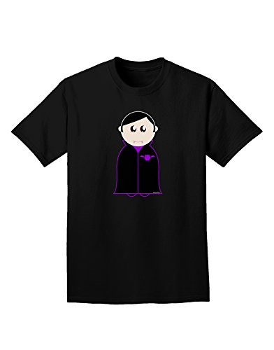 TooLoud Cute Vampire Boy Halloween Adult Dark T-Shirt - Black - Large -