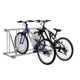 Global Industrial 61-5/8'L Grid Bike Rack, Single Sided, Powder Coated Galvanized Steel, 5-Bike...