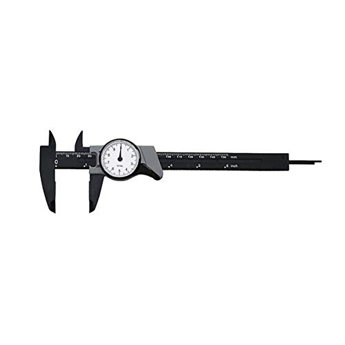 uqiangbao 0-150mm Dial Caliper Shock-Proof Plastic Vernier Caliper High Precision Metric Micrometer Portable Gauge Measuring Tool