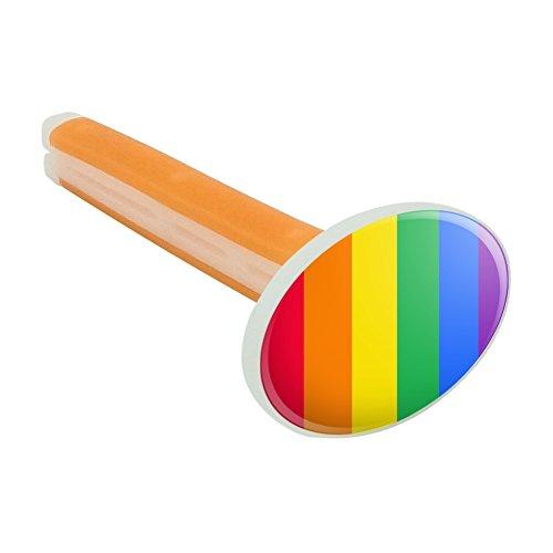 Rainbow Pride Gay Lesbian Contemporary Car Air Freshener Vent Clip - Citrus Blossom Scent