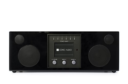 (Como Audio: Duetto - Wireless Music System with Internet Radio, Spotify Connect, Wi-Fi, FM, and Bluetooth - Piano Black)