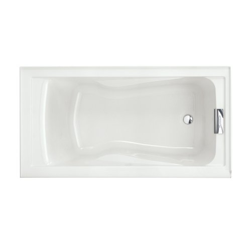 (American Standard 2425V#RHO002.020 Evolution Bathtub with Integral Apron Right Hand Drain Outlet, White)