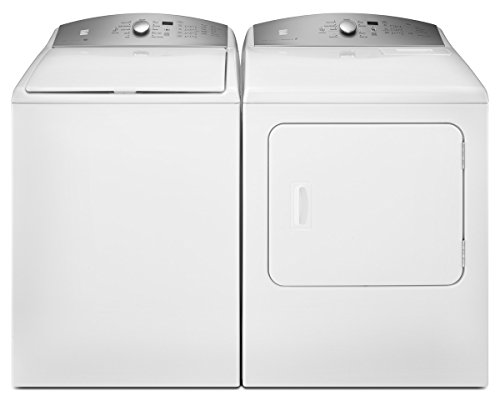 Kenmore 4.8 cu. ft. Top-Load Washer & Electric Dryer Bundle in White, includes delivery and hookup