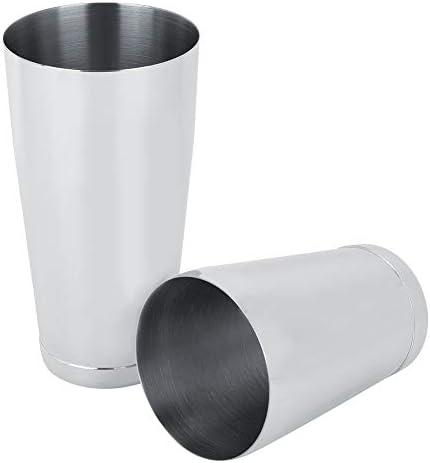 Fdit Robuster Boston Cocktail Shaker aus rostfreiem Stahl, Schüttelwerkzeug, praktische Bar, Kaffeestube, Zubehör, 540 ml/820 ml MEHRWEG VERPAKUNG