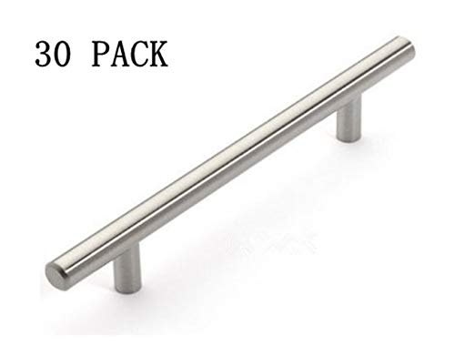 Kitchen Cabinet Pulls And Handles - 12mm Stainless Steel Kitchen Cabinet Handles T Bar Pull (8 Inches), 30 Pack