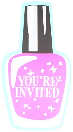 Creative Converting 317713 Sparkle Spa Birthday Party Invitations