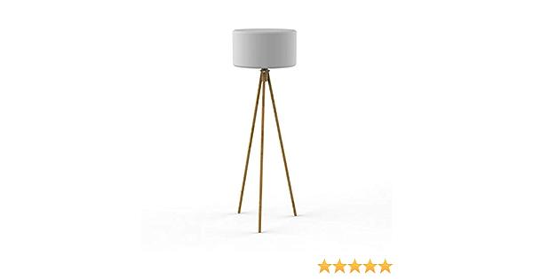 Chloe - Lámpara de pie de exterior con trípode LED RGB solar inalámbrica (madera y polietileno, 140 cm de alto), color blanco: Amazon.es: Iluminación