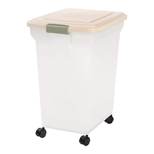 IRIS 67 Quart Airtight Pet Food Container, Almond
