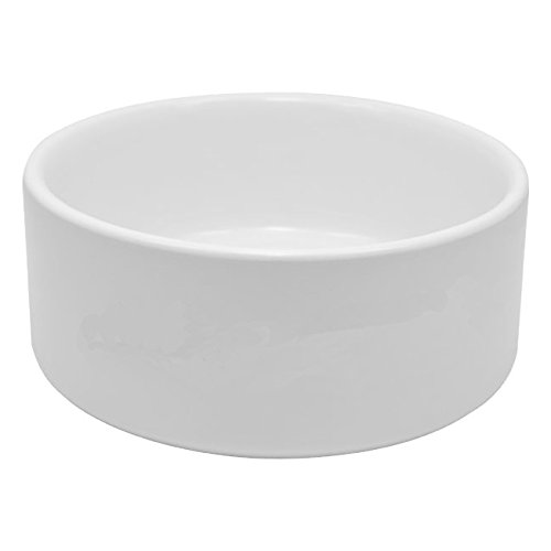 Longforte 10 x Large Blank Ceramic Dog Bowls for Sublimation Printing