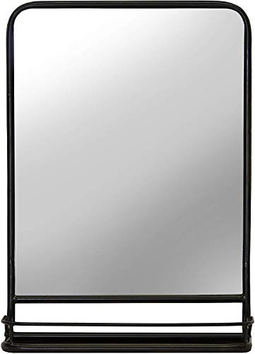 First of a Kind Rectangular Bathroom and Pharmacy Metal Wall Mirror with -