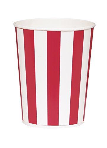 Small Red & White Striped Popcorn Buckets, (Night Tableware)