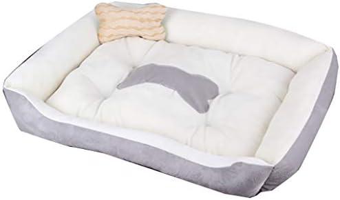 ペットベット ペットの巣マットテディスモールミディアム犬大型犬用品ベッド犬小屋ごみ四季ユニバーサル ベッド・ソファ SHANCL (Color : Gray, Size : M)
