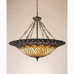 (Quoizel TF1901VB Tiffany Bowl Foyer Pendant Lighting, 6-Light, 600 Watts, Vintage Bronze (28