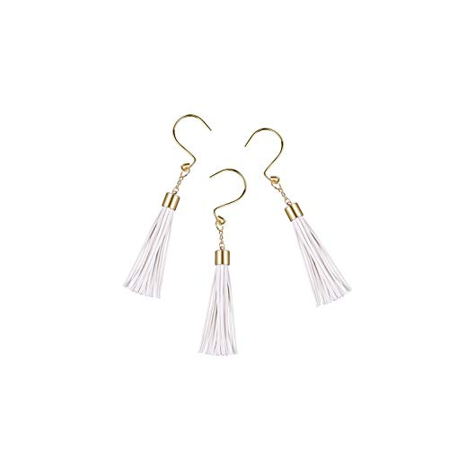 Aitian Rustproof Tassel Shower Curtain Hooks Rings - Gold Stainless Steel,Polished Chrome,Set of 12, for Bathroom,Baby Room,Bedroom,Living Room Decor -Give Your Restroom What It Deserves Now !