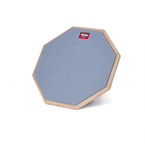 Drum Practice Pad 2sides- custeam drum pad 12-Inch ()