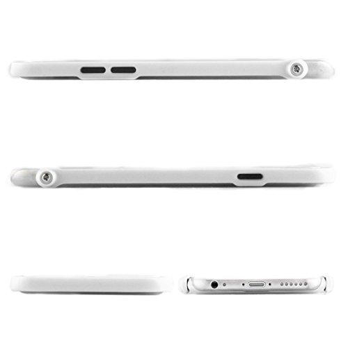 Alienwork Schutzhülle für iPhone 6/6s Ständer Hülle Case Bumper Stoßfest Ultra-flach Plastik weiss AP644-02