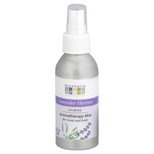 Aura Cacia Relaxing Lavender Aromatherapy Room & Body Mist 4 Oz Food, Silver, 4 Fl Oz