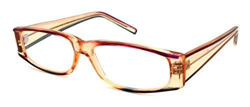 Edge I-Wear Women's Rectangular Frame Two Tone Color Plastic Reading Glasses - I Green Glasses