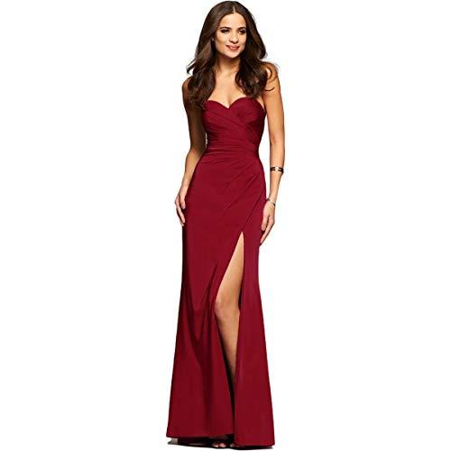 Faviana Womens Satin Prom Evening Dress Red 12