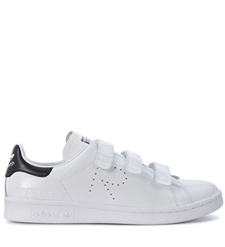 Sneaker Adidas x RAF Simons Stan Smith Comfort in Pelle Bianca Tallone Nero Bianco