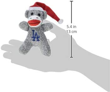 Los Angeles Dodgers 2013 Sock Monkey Ornament 2 Pack