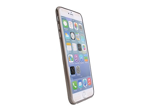 """Ultra Thin Slim Transparent Clear Soft TPU Case Cover For Apple iPhone 6 Plus 5.5"""" Inch Grey"""
