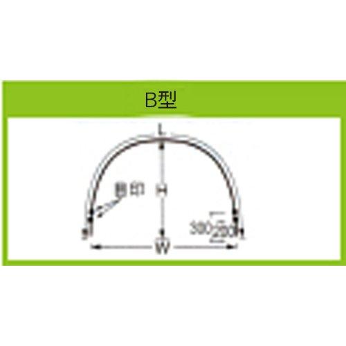トンネル支柱 6B-6x口径11mm×高さ65cmx幅90cm×長さ180cm 50本 B00KCIC3XW