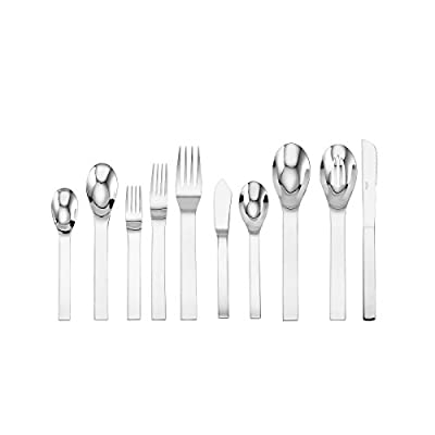 Sasaki 5081227 Aria 45-Piece Stainless Steel Flatware Set, Service for 8