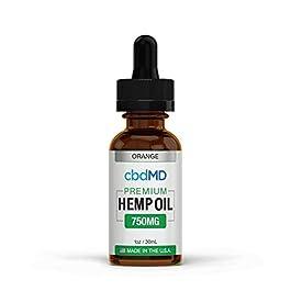750mg 1oz/30mL Pure Organic Premium Hemp Oil Tincture Drops for Pain Relief Anxiety Sleep Mood Stress Support 100% USA Grown Hemp Extract (Orange)