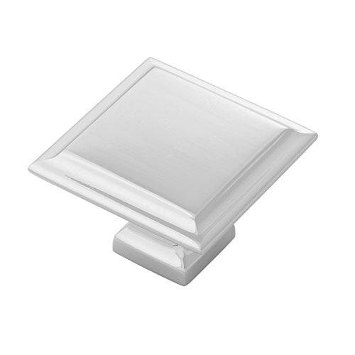 Belwith-Keeler B055577-14 Studio II Knob 1-1/2-inch Square Polished Nickel