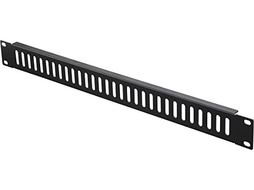 Rosewill 1U 19 Inch Horizontal Metal Blank Panel with Vented Holes for Server Rack Cabinet, Black (RSA-1UPA003)