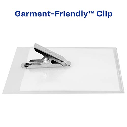 avery clip name badges  print or write  200 inserts