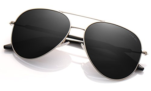 3612182e79 LUENX Mens Womens Aviator Sunglasses Polarized with Accessories - UV 400  Protection Large Metal Frame for Outdoor