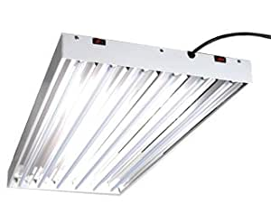 T5 Commercial Fluorescent Grow Light 4 Foot 6 Tube Fixture Only Plant Growing