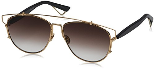 Dior Women DIORTECHNOLOGIC 57 Gold/Brown Sunglasses - Lady Dior Lady