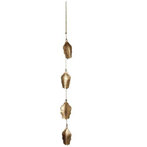 Four Antique Gold Hanging Buddha Bells -