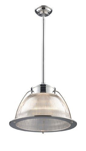 Elk 60004-1 Halophane 1-Light Pendant, Polished Chrome, 13-Inch H By 16-Inch W by (Halophane One Light Pendant)