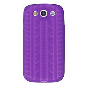 Bkjhkjy Tyre Silicone Case for Samsung S3 I9300 , Purple