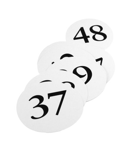 Weddingstar Round Table Number Cards, Numbers 37 to 48