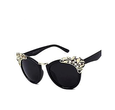 c53ec4499 النظارات الشمسية الفاخرة الماس خمر الفتيات الرقص الطرف نظارات عين القط