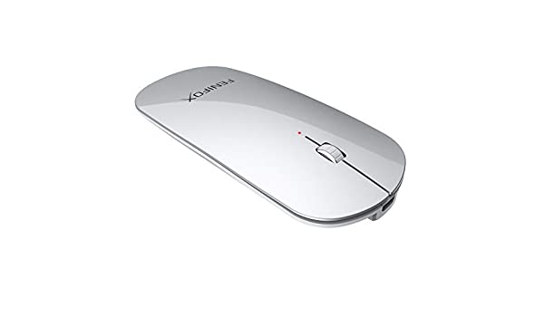 FENIFOX Ratón inalámbrico Bluetooth portátil silencioso recargable ...