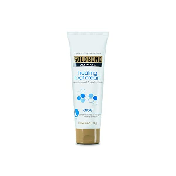 Gold Bond Ultimate Healing Foot Cream with Aloe 4 oz. (Pack of 4), Heals Dry, Rough Heels